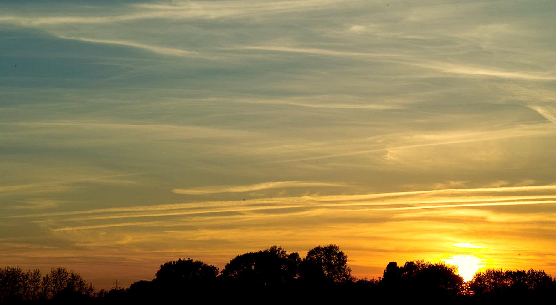 Sonnenuntergang in Krefeld