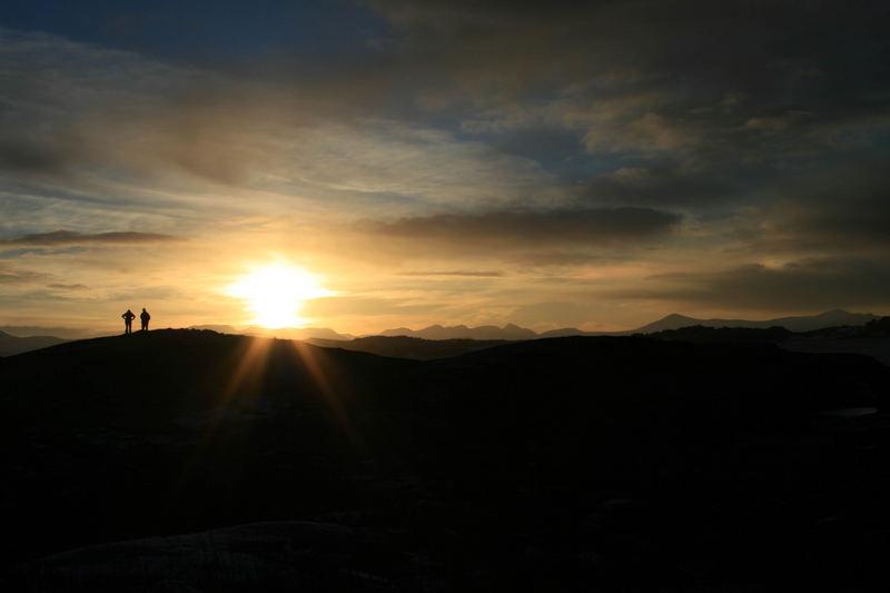 Sonnenuntergang in Kristiansund