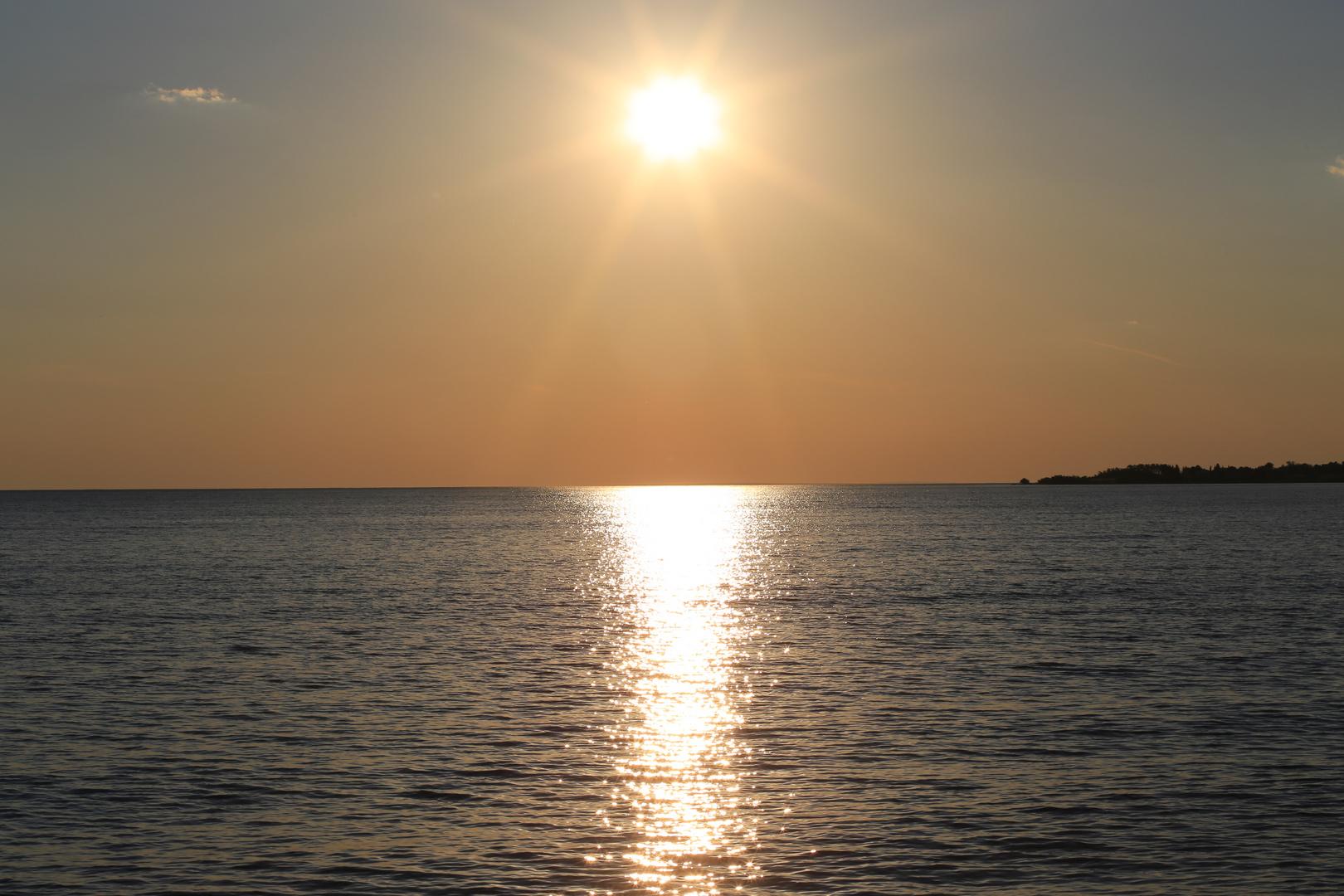 Sonnenuntergang in Kroatien 2013