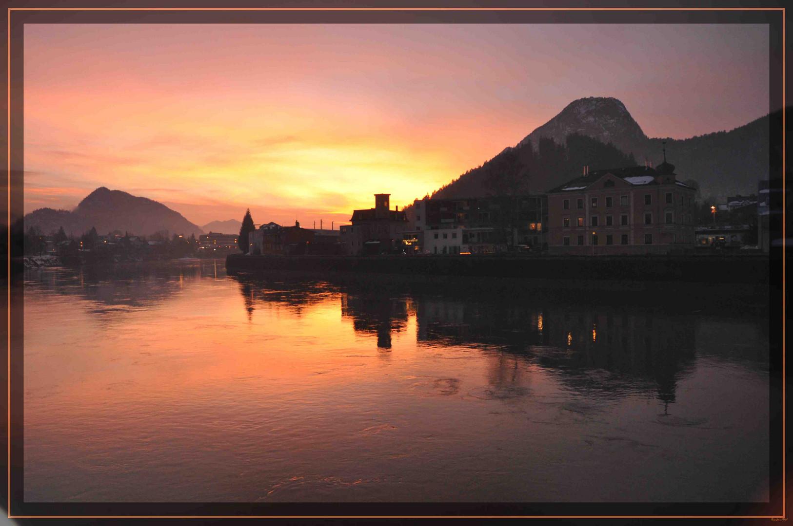 Sonnenuntergang in Kufstein