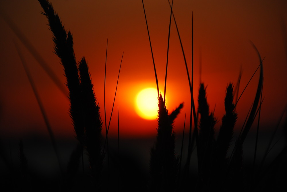 Sonnenuntergang in Laboe