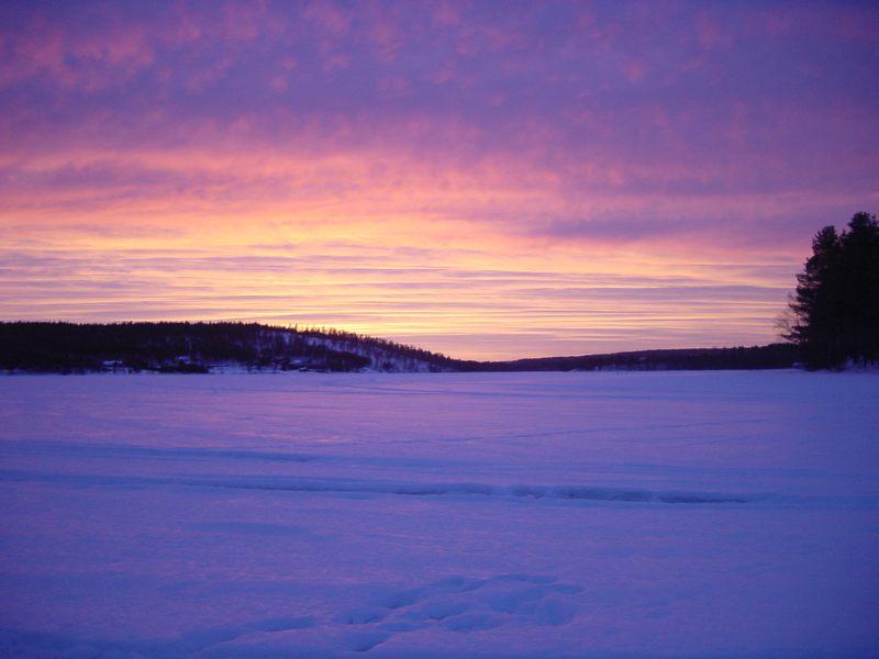 Sonnenuntergang in Lappland 02/03