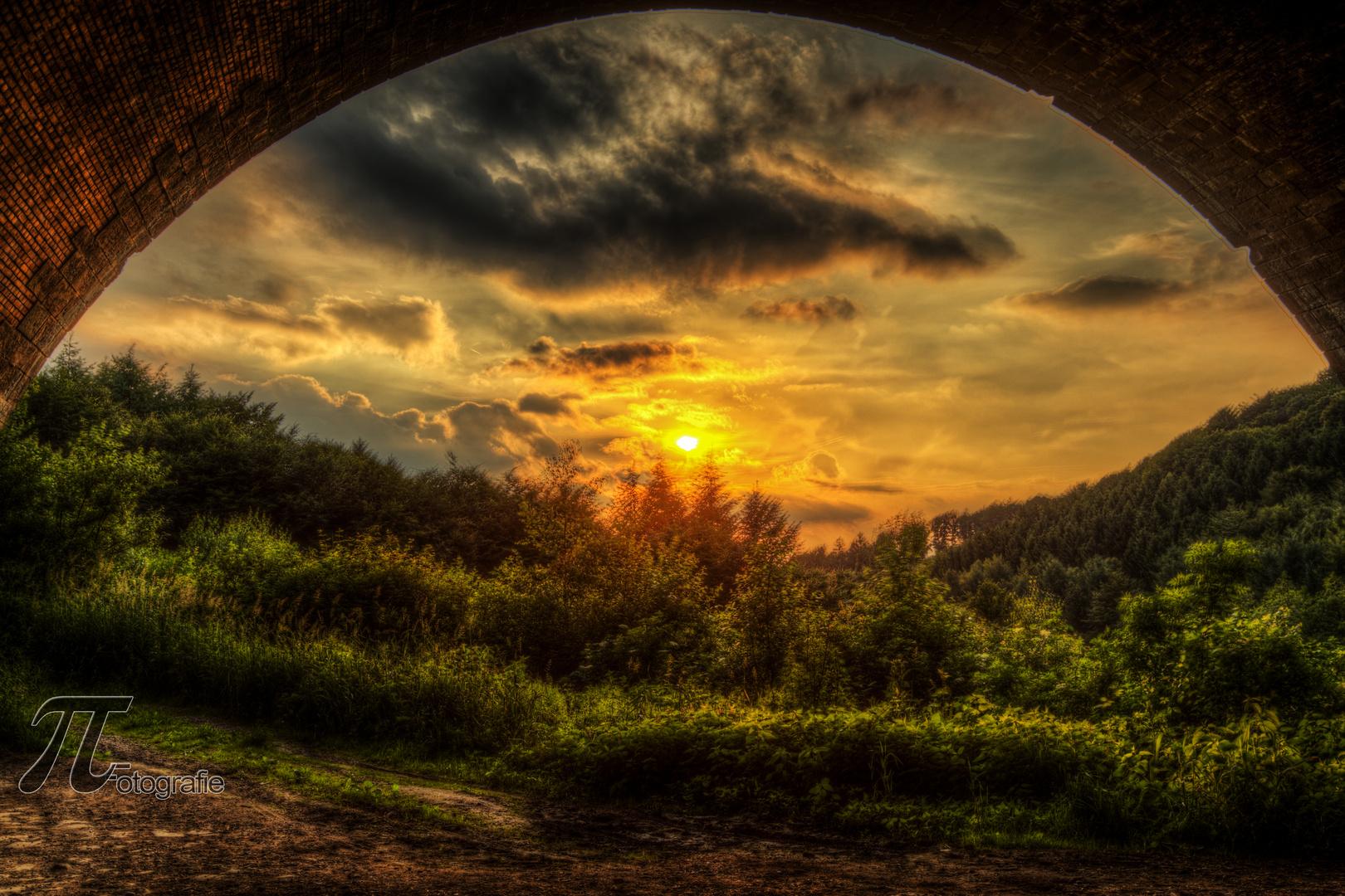 Sonnenuntergang in Lennep