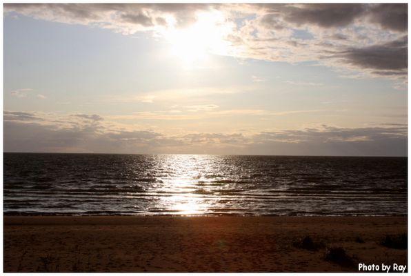 Sonnenuntergang in Lettland