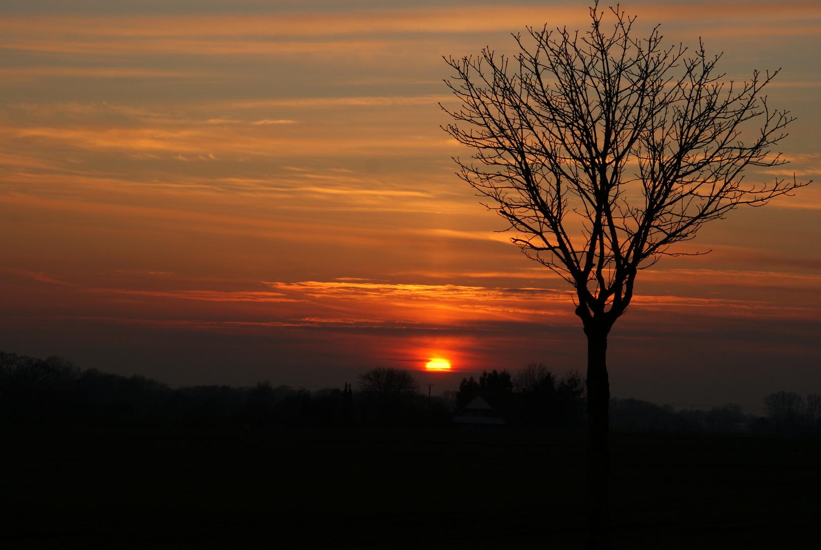 Sonnenuntergang in Lienen !