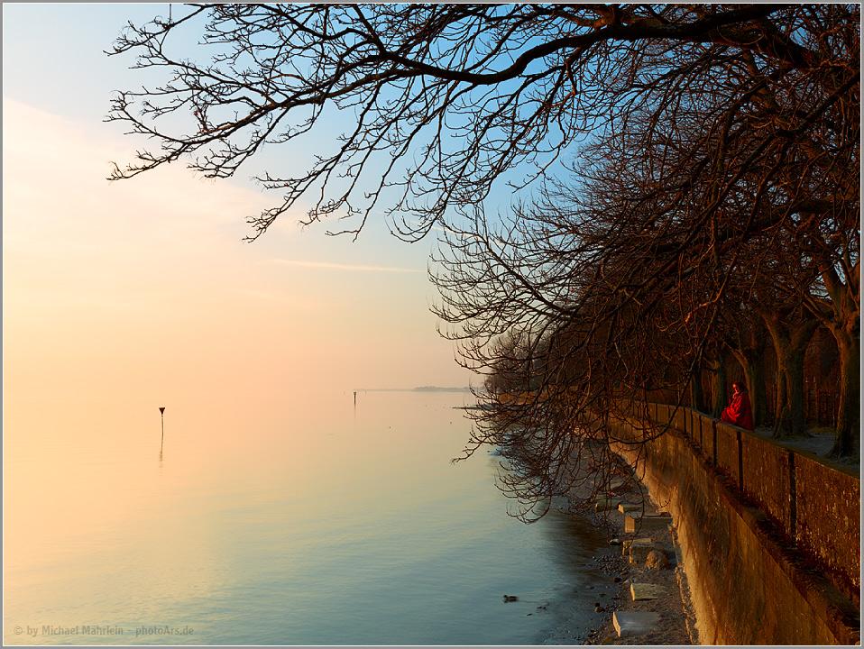 Sonnenuntergang in Lindau ...