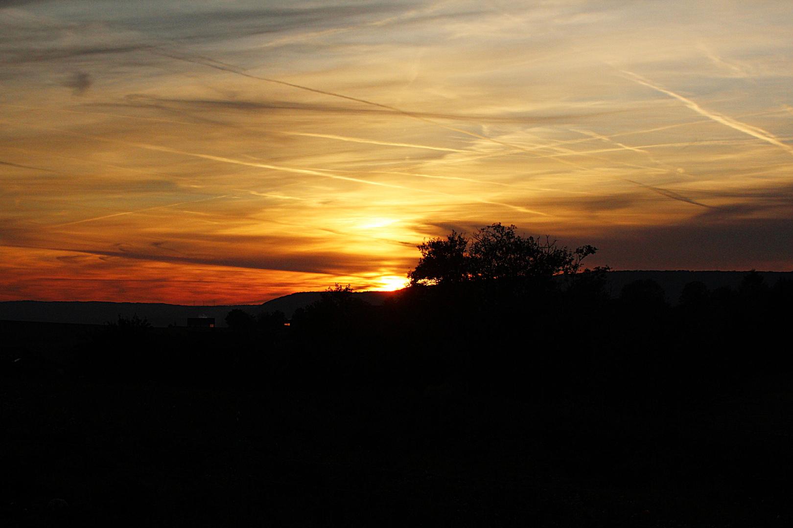 Sonnenuntergang in Lobach