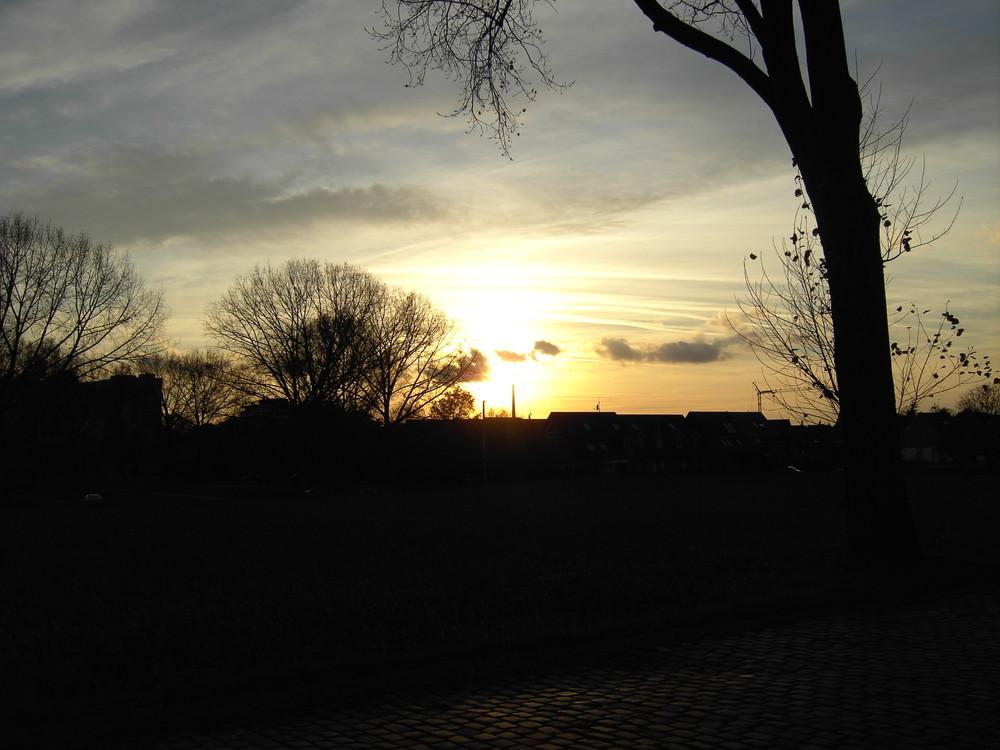 Sonnenuntergang in Lörick