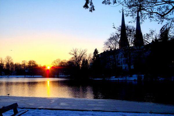 Sonnenuntergang in Lübeck