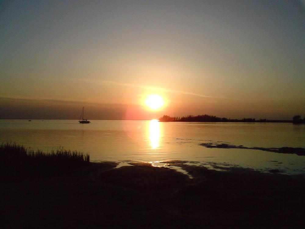 Sonnenuntergang in Makkum/Holland