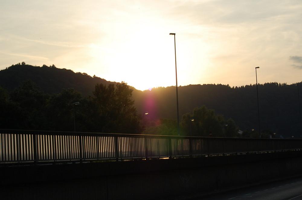 Sonnenuntergang in Marburg