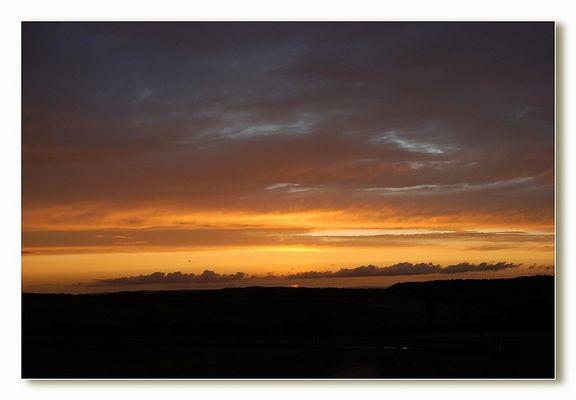 Sonnenuntergang in Mastershausen