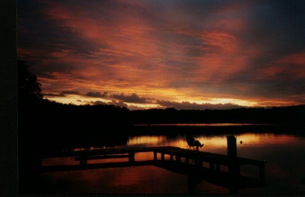 Sonnenuntergang in Mecklenburg