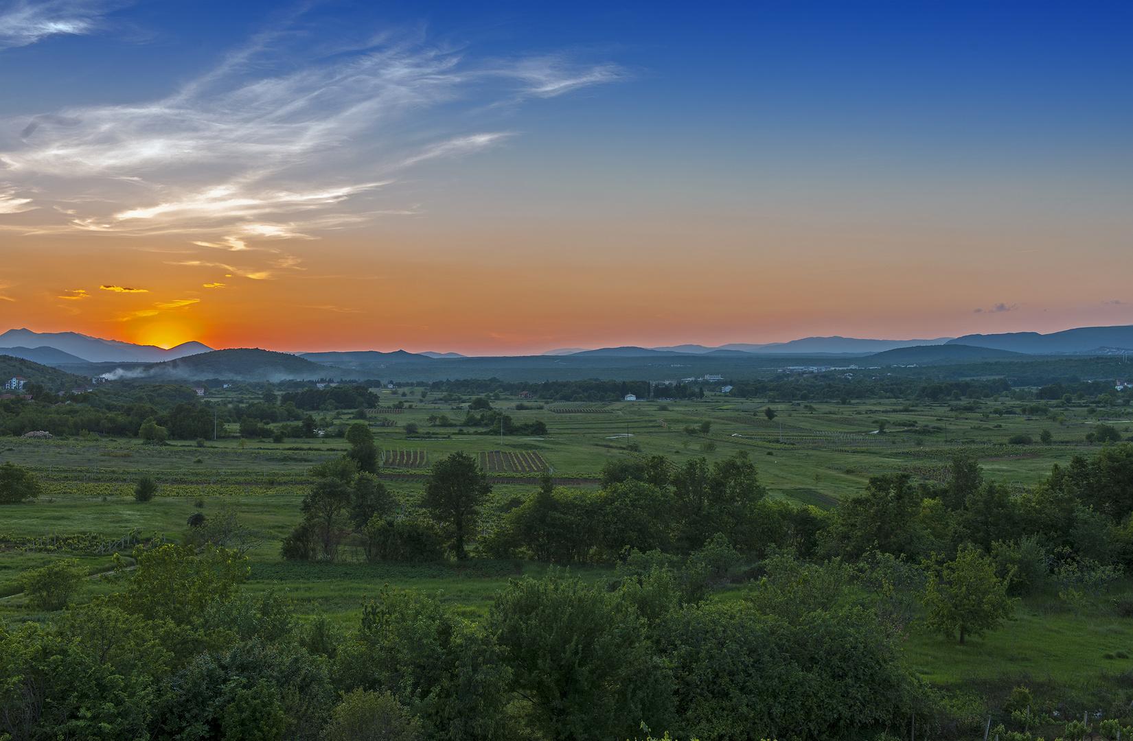 Sonnenuntergang in Medjugorje