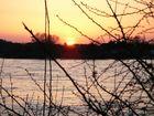 Sonnenuntergang in Meerbusch am Rhein (Kreis Neuss)