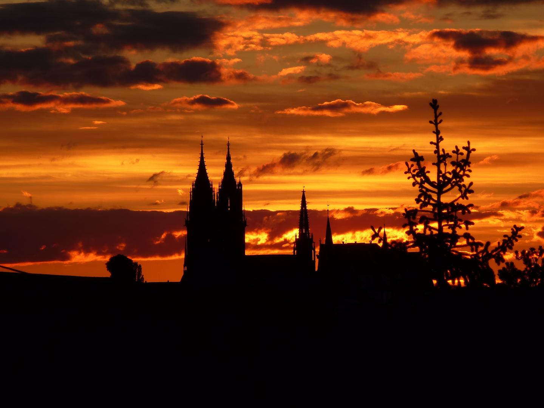 Sonnenuntergang in Meissen