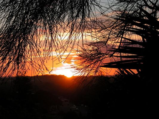 Sonnenuntergang in Melbourne