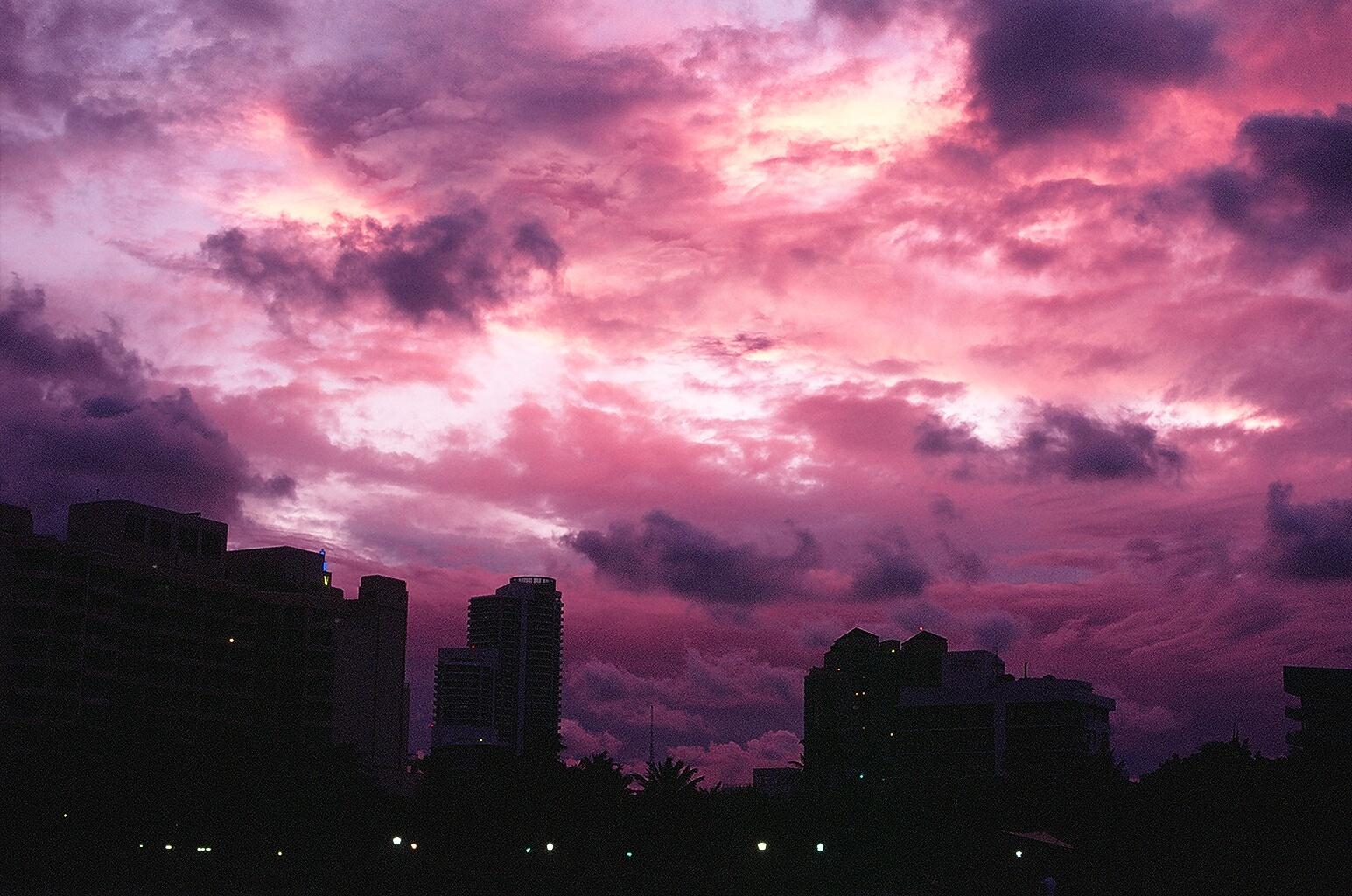 Sonnenuntergang in Miami South Beach