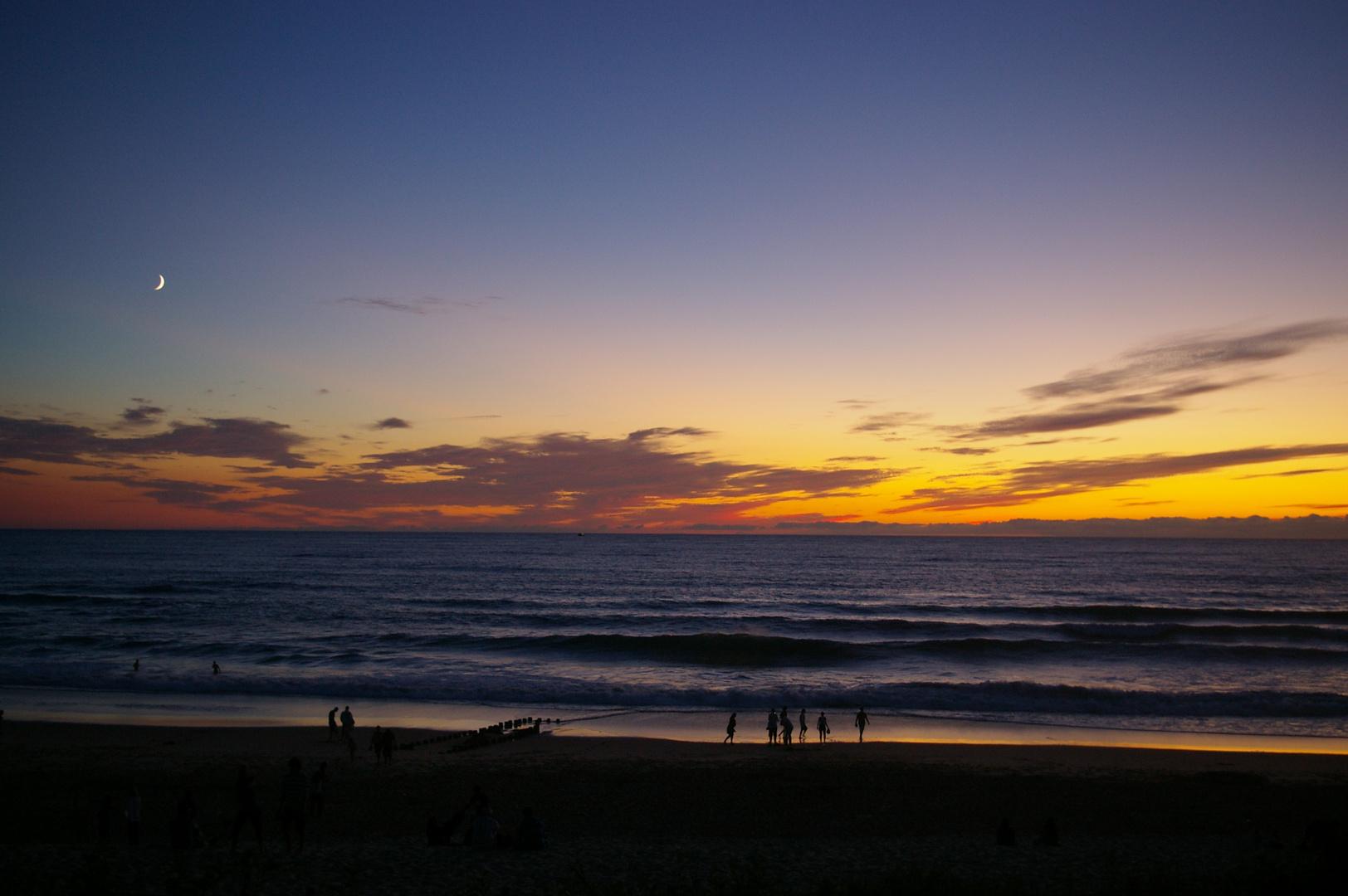 Sonnenuntergang in Mimizan