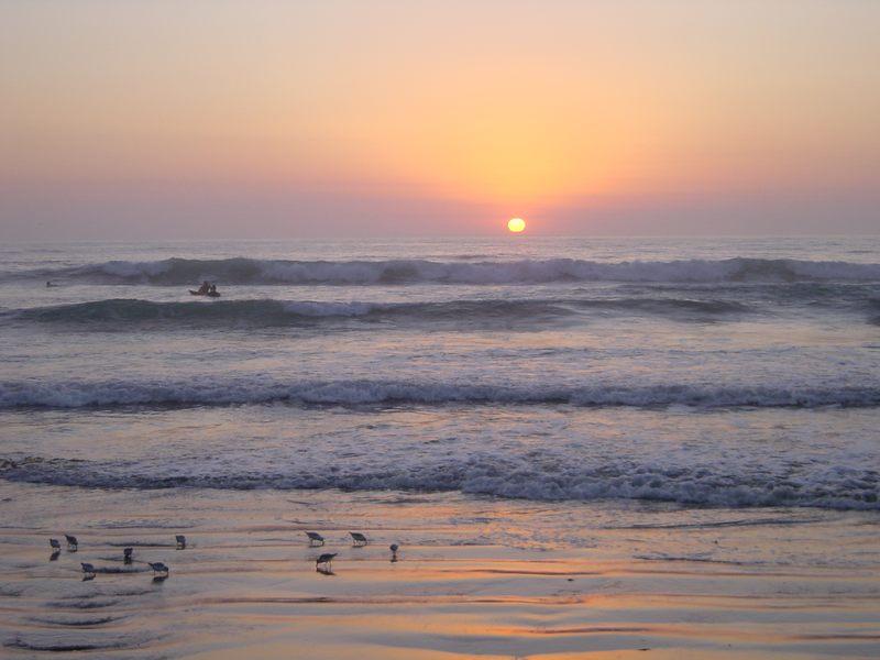 sonnenuntergang in mission beach san diego