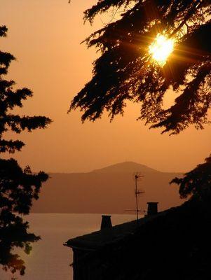 Sonnenuntergang in Montefiascone