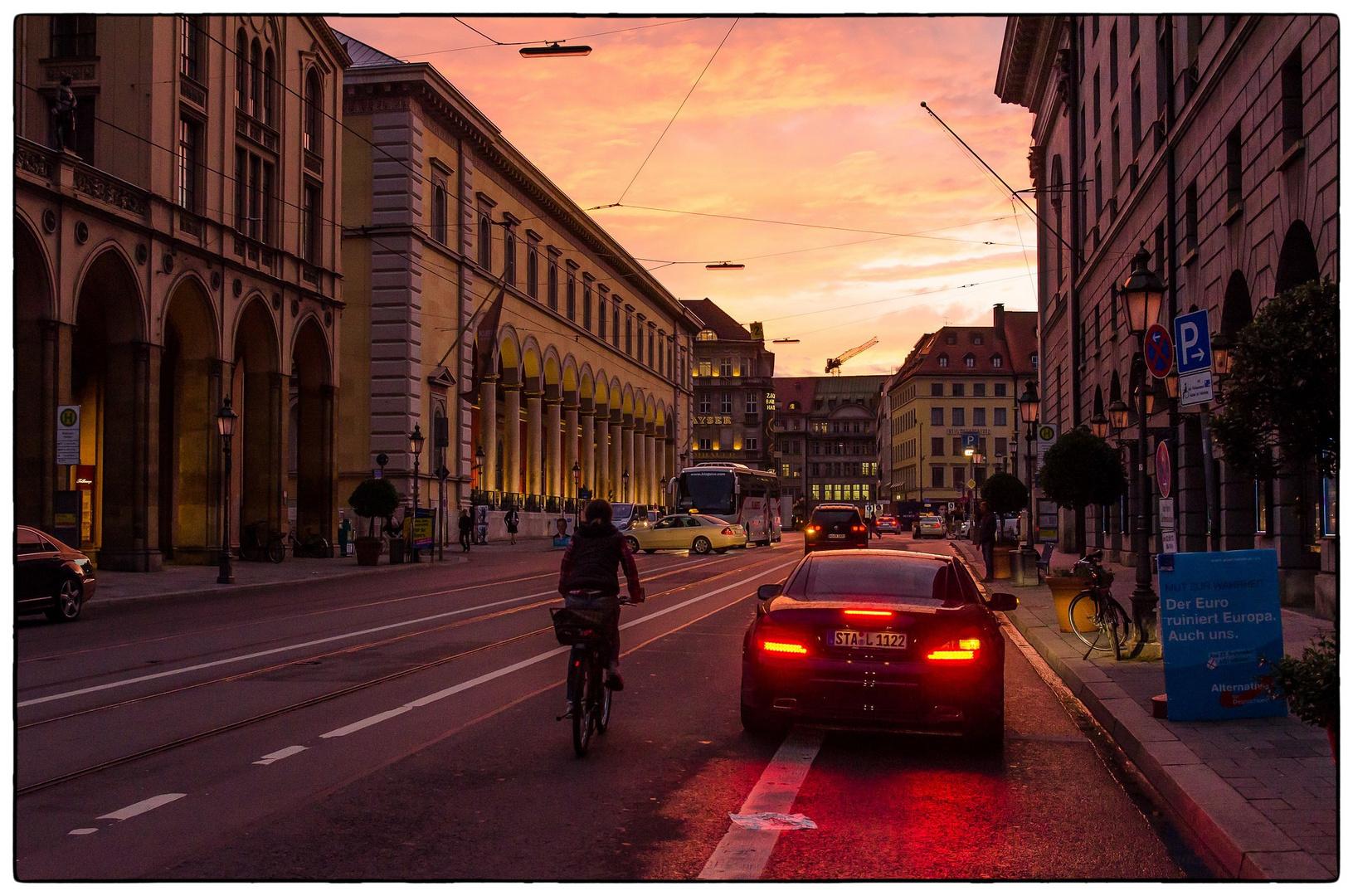 Sonnenuntergang in München