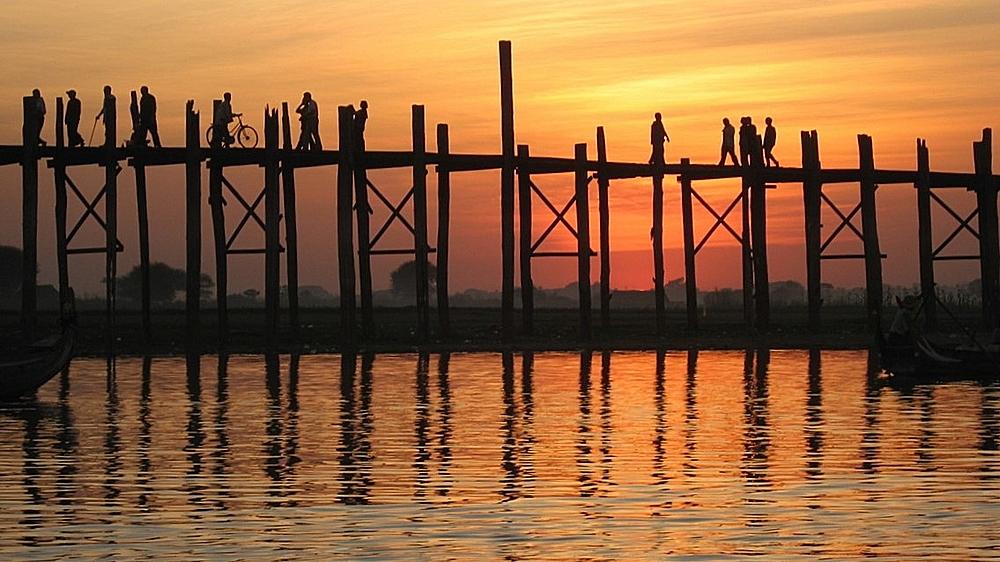 Sonnenuntergang in Myanmar