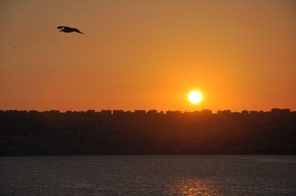 Sonnenuntergang in Neapel