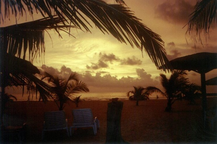 Sonnenuntergang in Negombo(Ceylon)