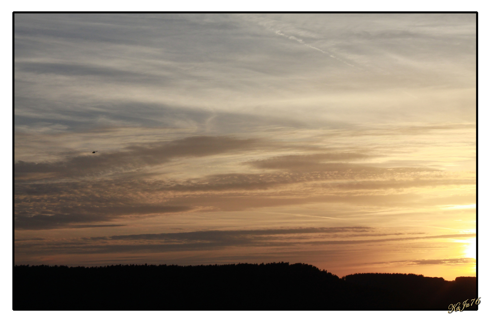 Sonnenuntergang in Nideggen