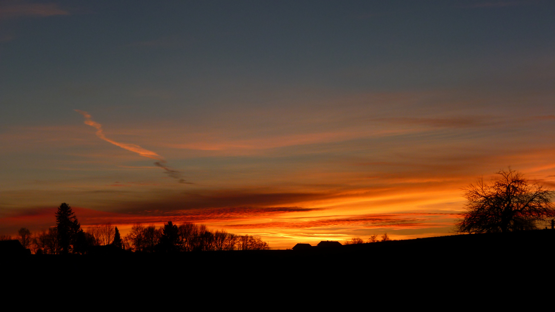 Sonnenuntergang in Niederbayern