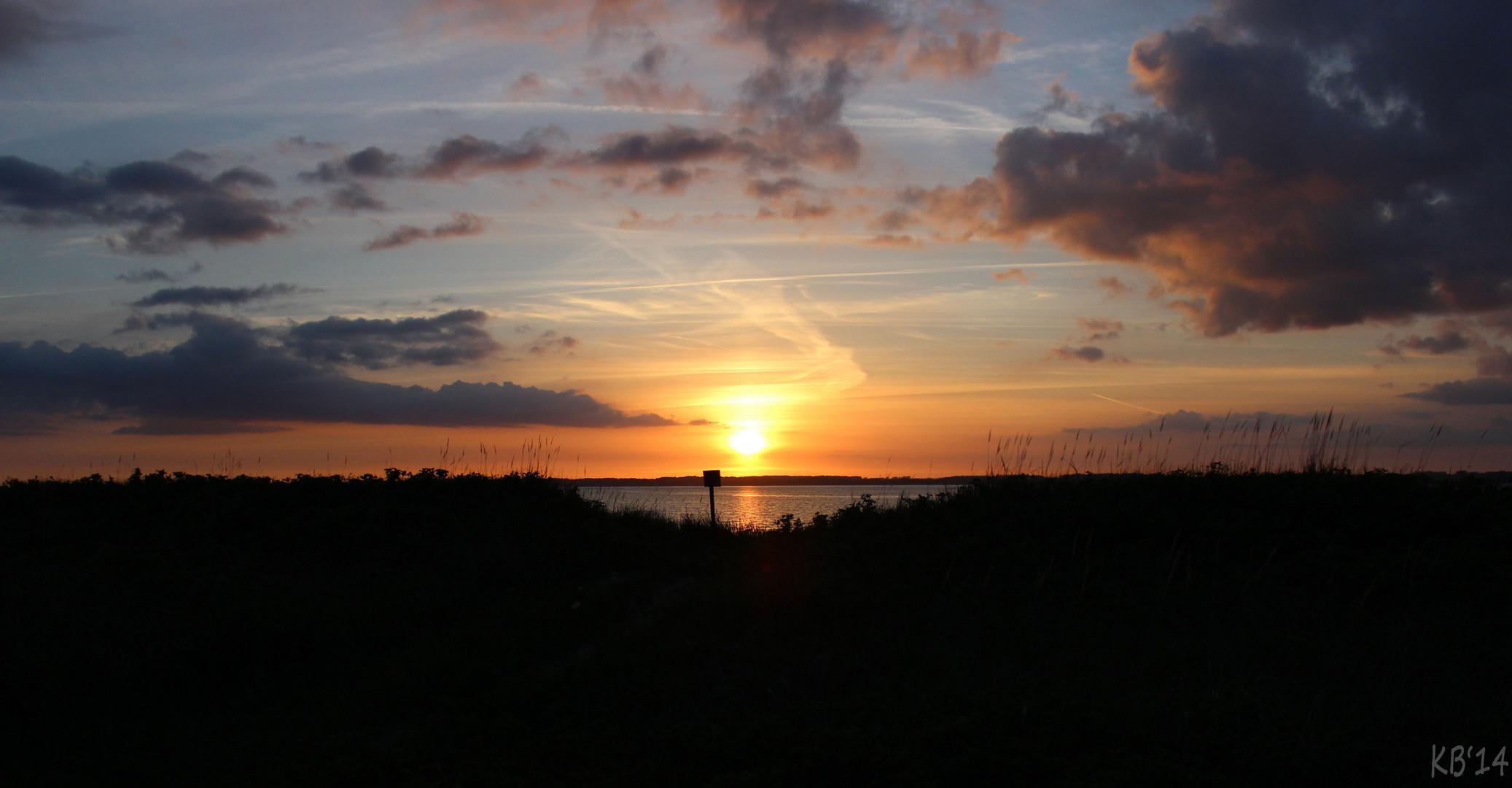 Sonnenuntergang in Noer bei Kiel