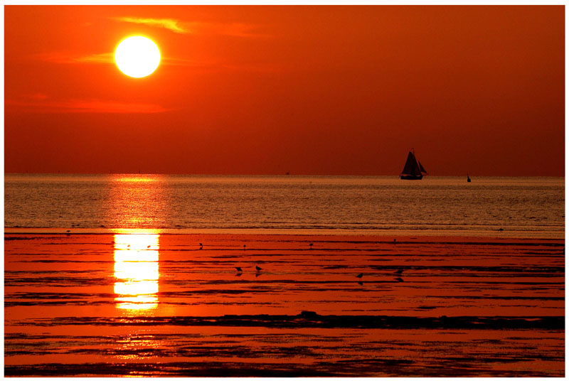 Sonnenuntergang in Norden 1