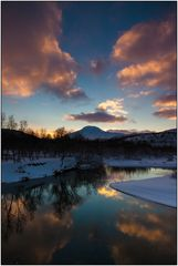 Sonnenuntergang in Nordnorwegen