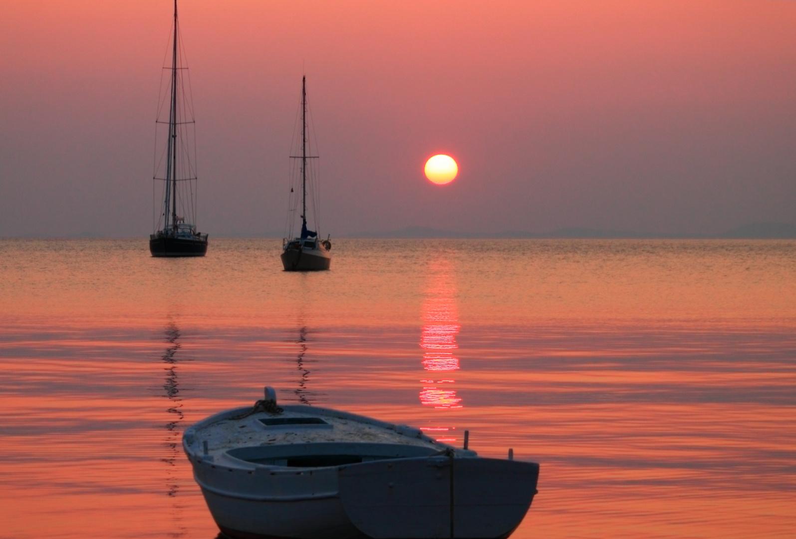 Sonnenuntergang in Novalia