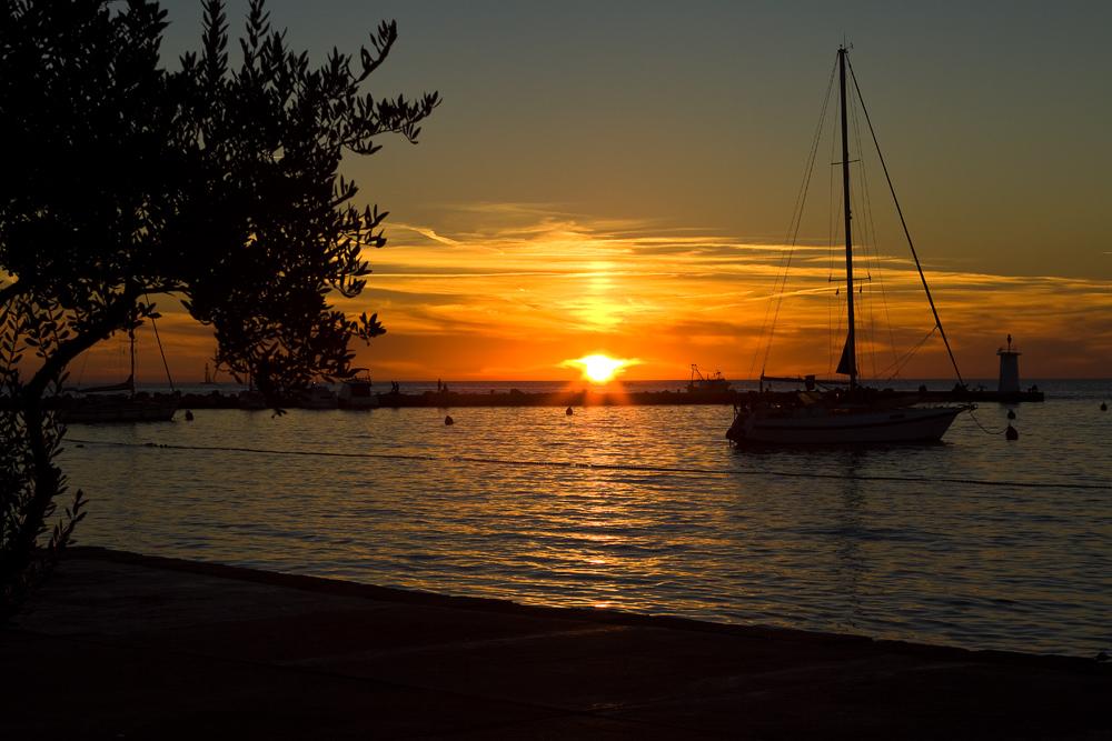 Sonnenuntergang in Novigrad