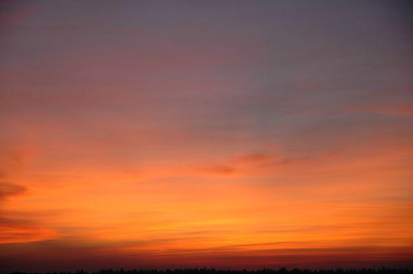 Sonnenuntergang in Oberschlesien