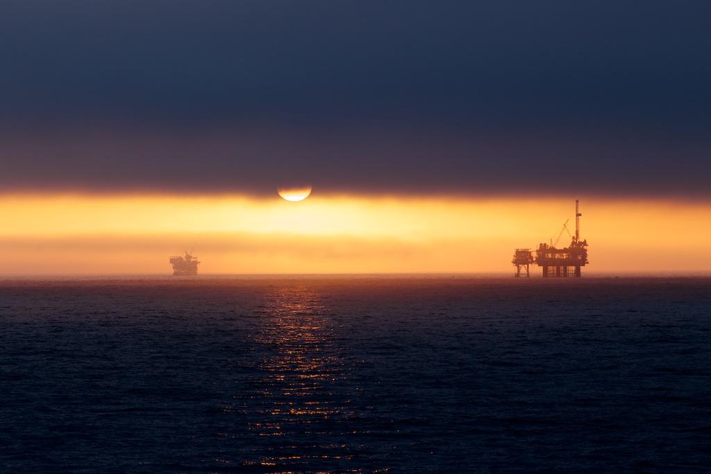 Sonnenuntergang in Öl