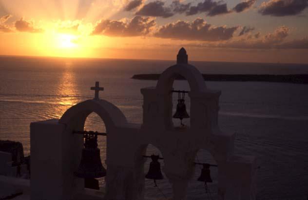 Sonnenuntergang in Oia-Santorini