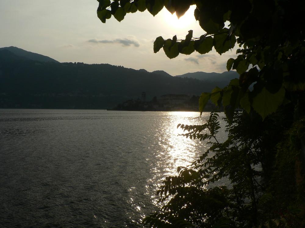 Sonnenuntergang in Orta