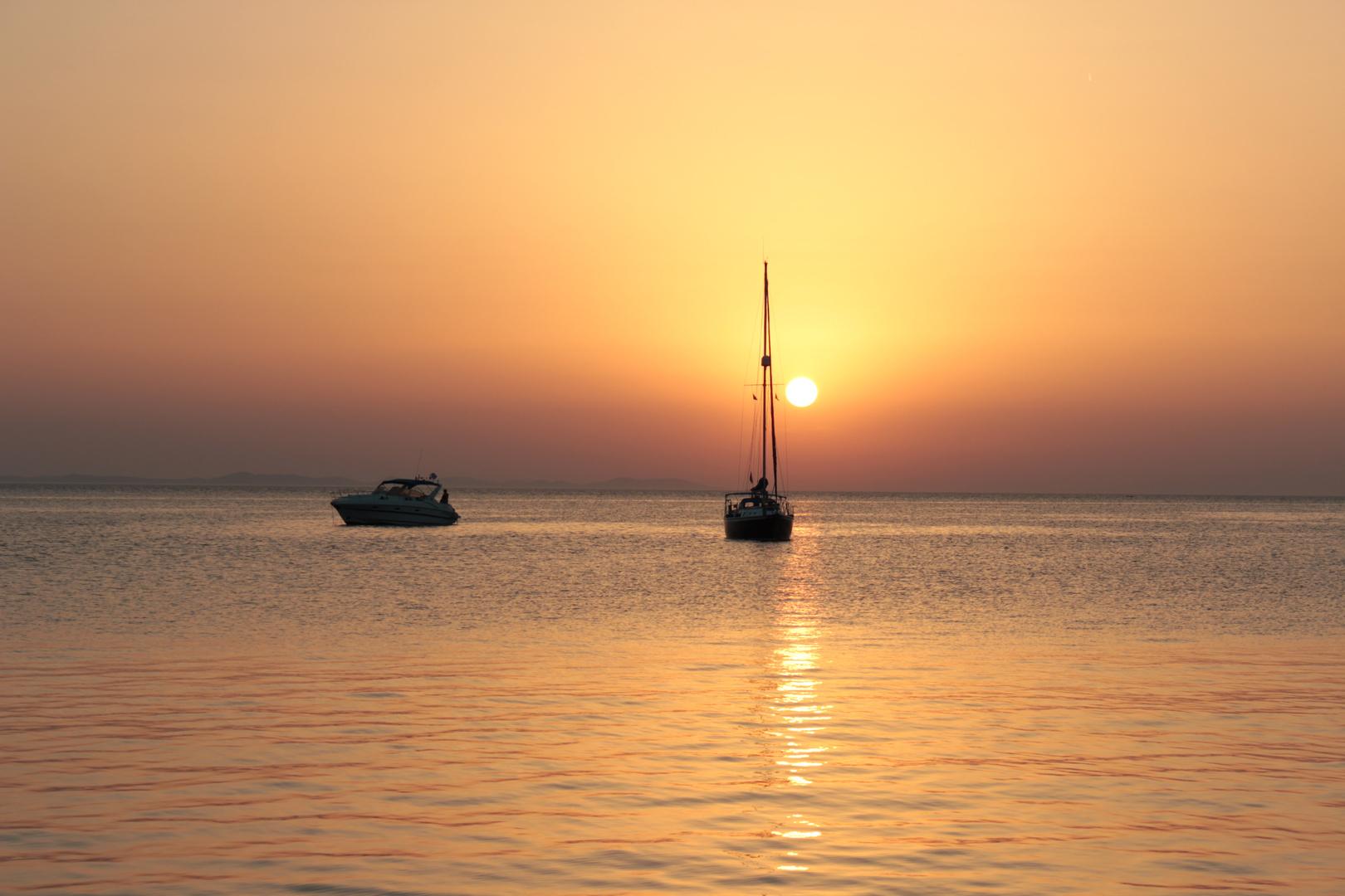 Sonnenuntergang in Petrcane