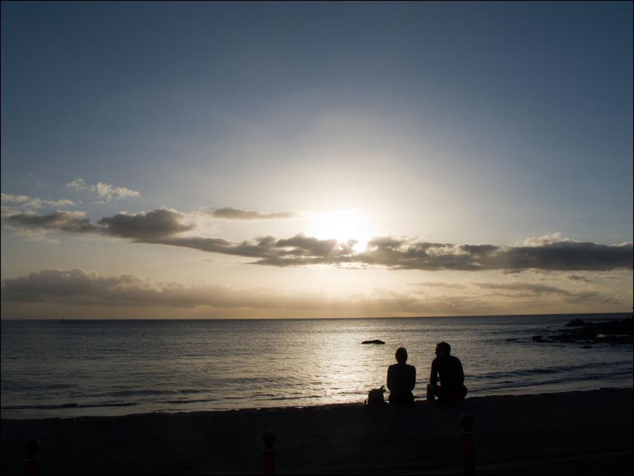 Sonnenuntergang in Playa