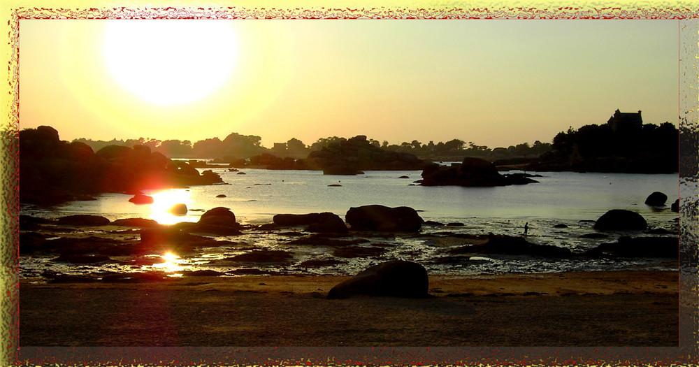 Sonnenuntergang in Ploumanach (2), bei Perros Guirec.