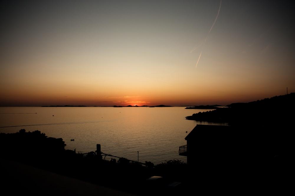 Sonnenuntergang in Primošten
