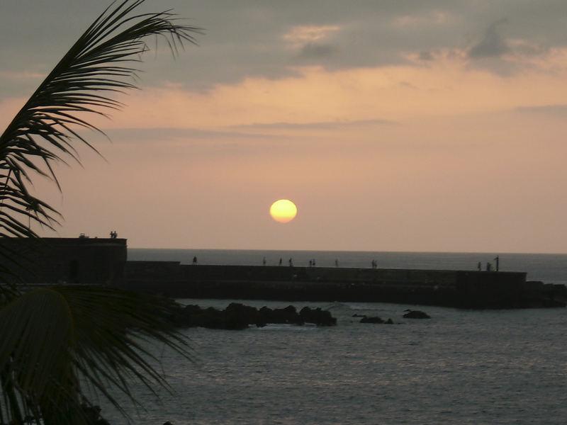 Sonnenuntergang in Puerto de la Cruz