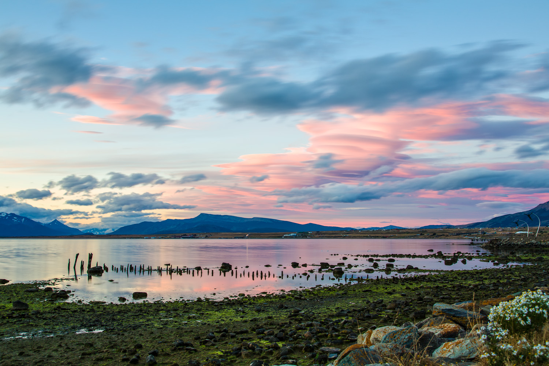 Sonnenuntergang in Puerto Natales