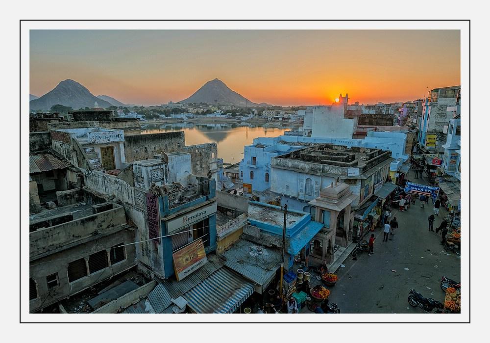 Sonnenuntergang in Pushkar....