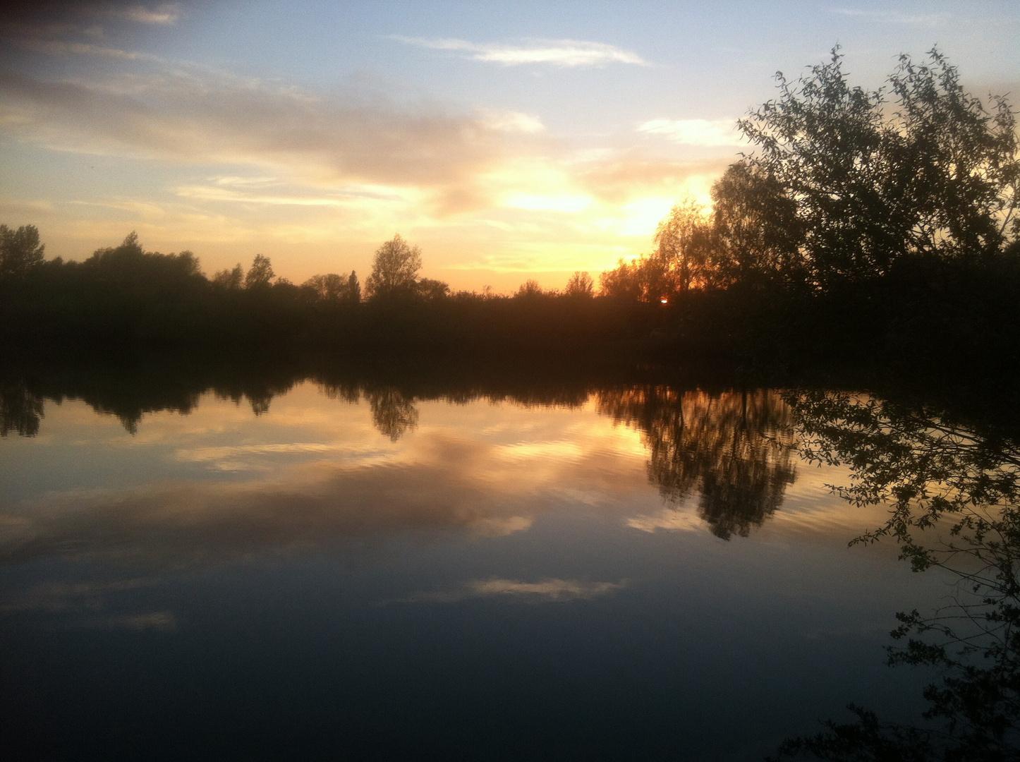 Sonnenuntergang in Rethen