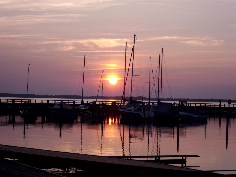 Sonnenuntergang in Ribnitz-Damgarten