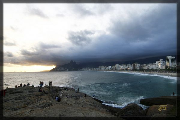 Sonnenuntergang in Rio